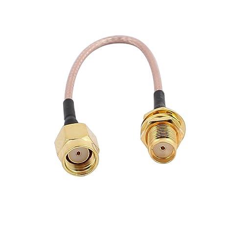 DealMux Gold RP-SMA Macho a SMA Hembra Adaptador Conector ...