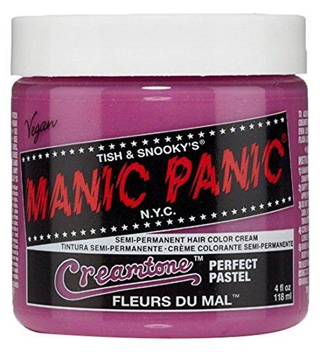 Pink Pastel Chicks - Manic Panic Semi-Permanent Hair Color Cream, Fleurs Du Mal, 4 Ounce