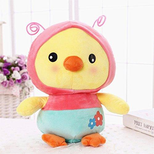 edealing(TM) Creative Plush Soft Stuffed Doll Cartoon Chick Magic Transfiguration Toy For Baby Kids (Moover Doll Pram)