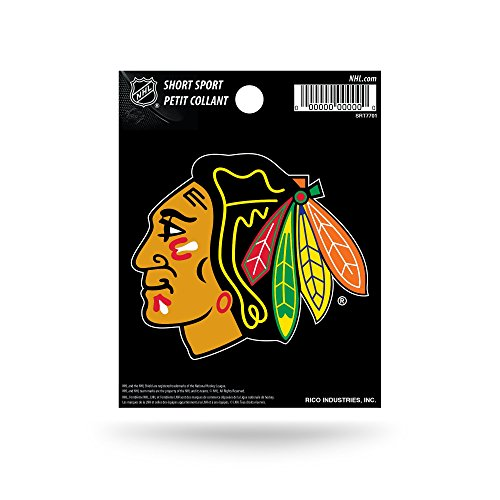- Rico Industries NHL Chicago Blackhawks Die Cut Team Logo Short Sport Sticker