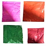 easy to draw pic - Diwali Rangoli Colors, 4 Colors for Making Rangoli, Colors, 50 Gram Packets (Colors Light Pink / Orange / Dark Green / Red )