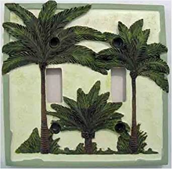 Palm Tree Double Toggle Switchplate Cover Home Decor