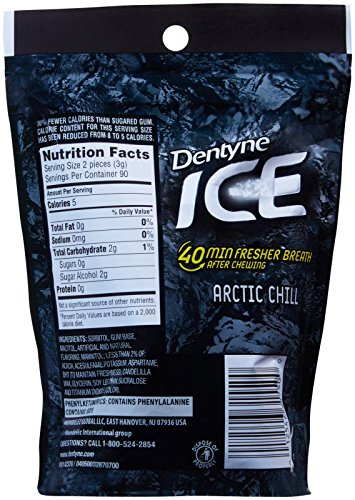 Dentyne Ice Sugar Free Gum, Pouch - Arctic Chill - 180 Piece - 4 Count by Dentyne (Image #1)