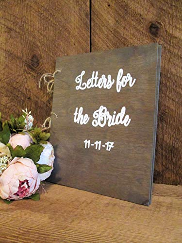 Letters for the bride book- CUSTOMIZE! by Perryhill Rustics LLC