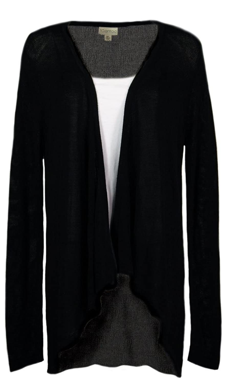iCantoo Women's Sweater Knit Long Sleeve Hi-Low Cardigan