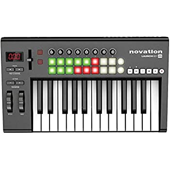 novation launchkey 25 25 key usb ios midi keyboard controller with synth weighted. Black Bedroom Furniture Sets. Home Design Ideas