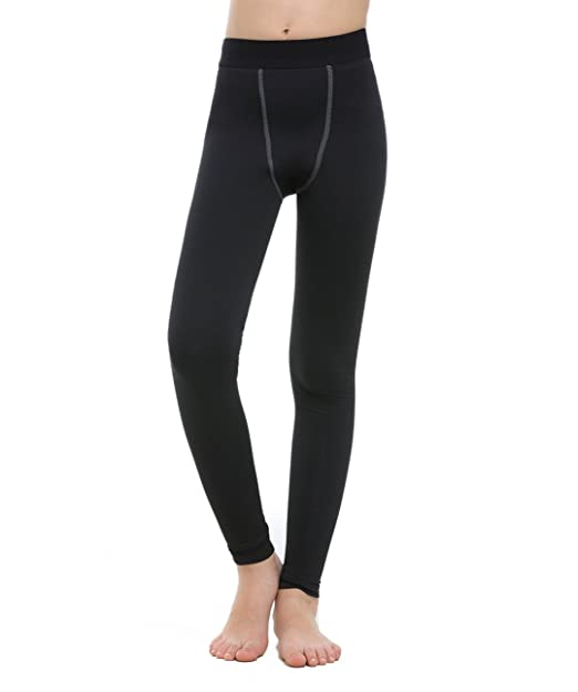 b6dde6897cec4 Amazon.com: TOURME Kids Athletic Leggings Little Girls Boys Sport  Compression Tights: Clothing