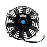 Anysell88 Universal 7in 80W DC 12V Car Radiator Cooling Fan Heat Dissipation Fan