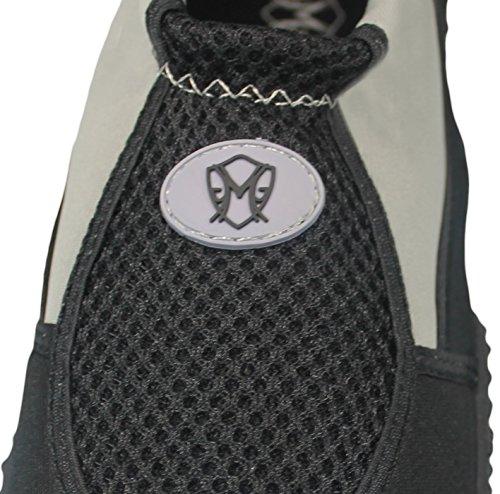 Greg Michaels Mens Water Shoes Aqua Socks - Alta Resistenza, Comodo Da Indossare In Acqua E Su Superficie Grigio - 3