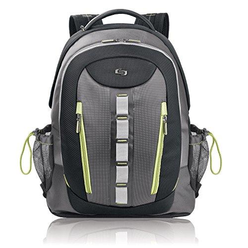 """Solo STM7104 Storm 16"""" Laptop Backpack, Black/Gray (USLSTM7104)"""