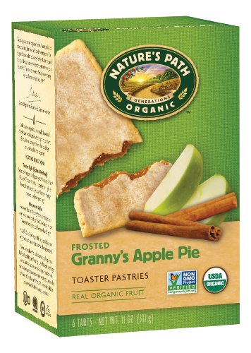 Nature's Path Organic Toaster Pastries, Frosted Granny's Apple Pie, 6 Count Box, 11 oz (Pack of 12)