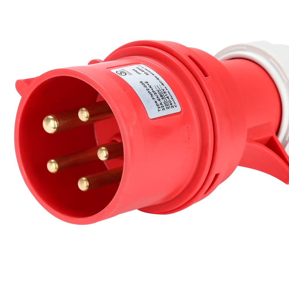 Hengda Verteiler Baustromverteiler Stromverteilung CEE 2 x 16A 400V+4x 230V 5 Polig IP44 Schuko Stromverteiler Wandverteiler Mit Sicherheitsklappdeckeln Leitung F/ür Baustelle