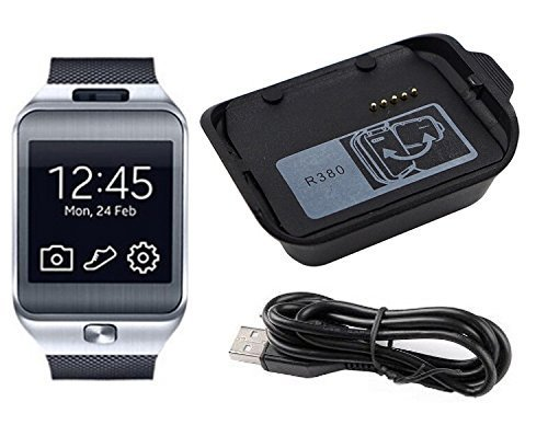 JahyShow Galaxy Gear 2 Charger Replacement Charger Charging Cradle Dock + Micro USB Cable Cor for Samsung Galaxy Gear 2 SM-R380 R380 Smart Watch