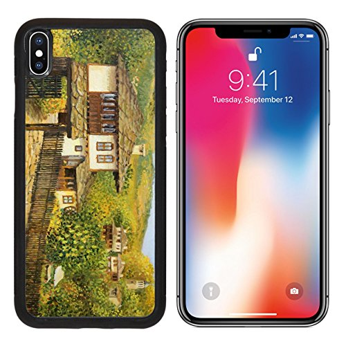 MSD Premium Apple iPhone X Aluminum Backplate Bumper Snap Case Rural colorful autumn landscape in village Bojenci in the Balkan mountains painted IMAGE 16300638