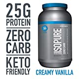 Isopure Zero Carb Protein Powder, 100% Whey Protein Isolate, Flavor: Creamy Vanilla, 3 Pounds (Packaging May Vary)