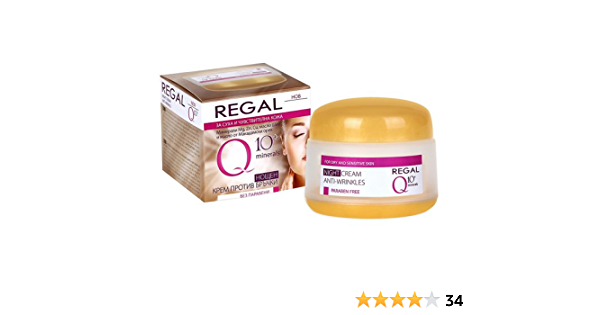 Regal Q10+ - Crema de Noche Antiarrugas Piel Seca y Sensible