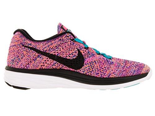 NikeFlyknit Lunar3 - Zapatillas de Running Mujer Concord/Black/Gmm Bl/Ttl Orng