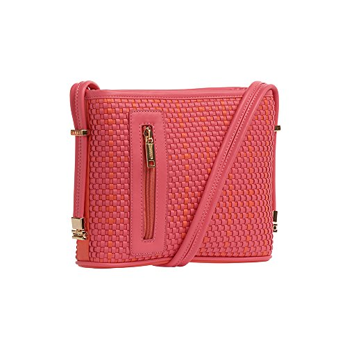 samoe-style-bright-berry-pink-and-tangerine-basketweave-texture-crossbody-handbag