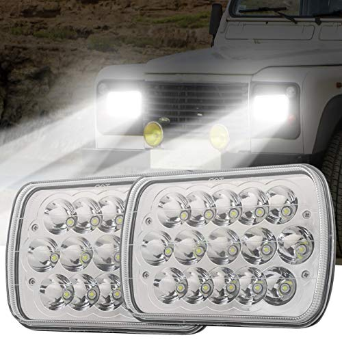 5x7 7x6 H6054 Led Headlights Hi/Low Sealed Beam Rectangular Headlamp for H5054 H6054LL H6014 69822 6052 6053 Cherokee XJ Jeep Wrangler YJ Trucks 4X4 - Headlamp Toyota Headlight Tercel