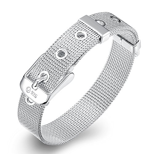 Star Jewelry 10 Mm 925 Silver Mesh Watch Bracelet / Strap Bangle For Women And Men