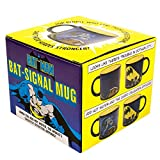 Batman Bat-Signal Heat Changing Coffee Mug - DC Comics Officially Licensed - - Add Hot Water and Batman Comes to the Rescue - Comes in a Fun Gift Box - by The Unemployed Philosophers Guild