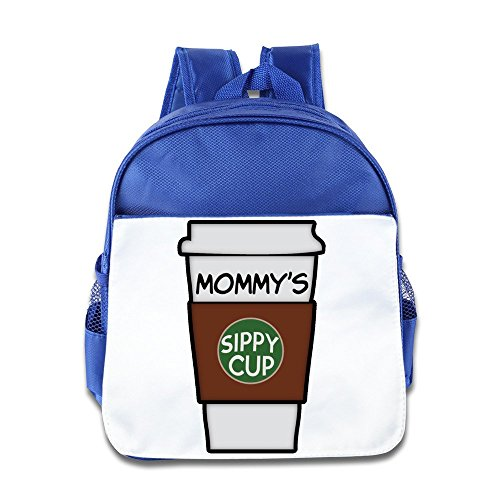 Hello-Robott Mommy's Sippy Cup Funny Coffee School Bag Backpack RoyalBlue