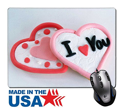 "MSD Natural Rubber Mouse Pad/Mat with Stitched Edges 9.8"" x 7.9"" Heart shaped pastries IMAGE 22759957 - Edge Pastry"