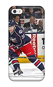 New FsaahEL7612lUHRQ Columbus Blue Jackets Hockey Nhl (36) Skin Case Cover Shatterproof Case For Iphone 5/5s