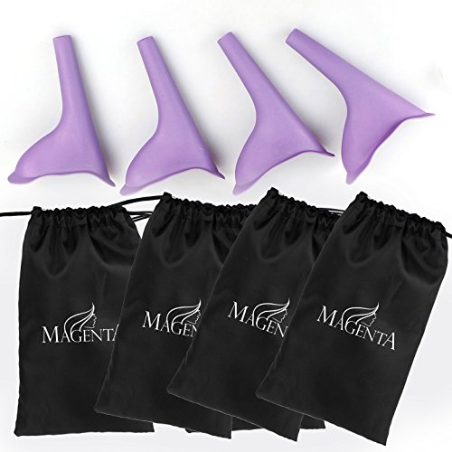 Pack of four Urination female devices and four bags outlet