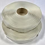 Colorimetrics White Putty Tape / Butyl Tape 1/8'' x 1'' x 30' (2-Pack)
