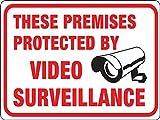 Kyпить Surveillance Sign, Plastic, White, 8.5