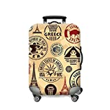 Dwayne C Printed Fabric Waterproof Covered Protective Travel Suitcases (S,Style 52)