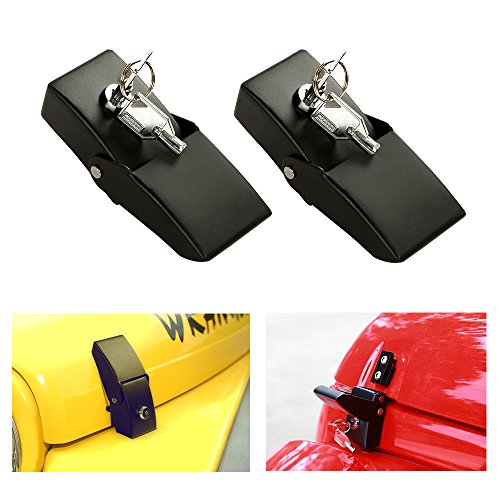 Orford Hood Latch for Jeep Wrangler Jk, Fit for Jeep Hood Lock Jk Set 2007-2017