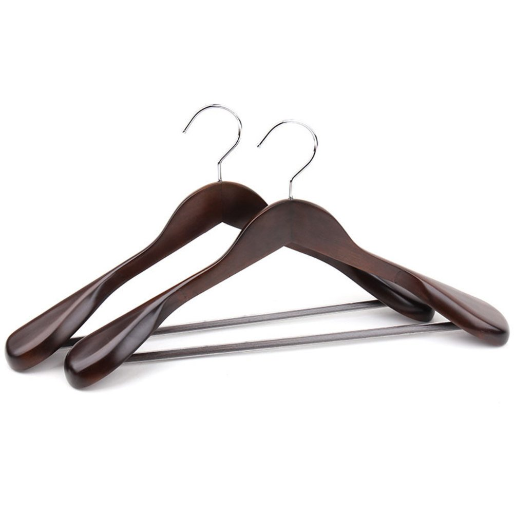 Solid wood hanger,Suit wide shoulder clothing store large clothes rack wooden wooden wardrobe hanger home-C 39.5x23.5x5.5cm(16x9x2inch) by SDFDSVDCGVSGVCGD (Image #2)