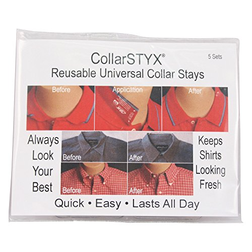 Collar Stays 5 sets , Adhesive, Reusable