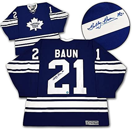 Image Unavailable. Image not available for. Color  Bobby Baun Toronto Maple  Leafs Autographed 1967 Stanley Cup Retro CCM Jersey - COA Included Autograph cf82835bf