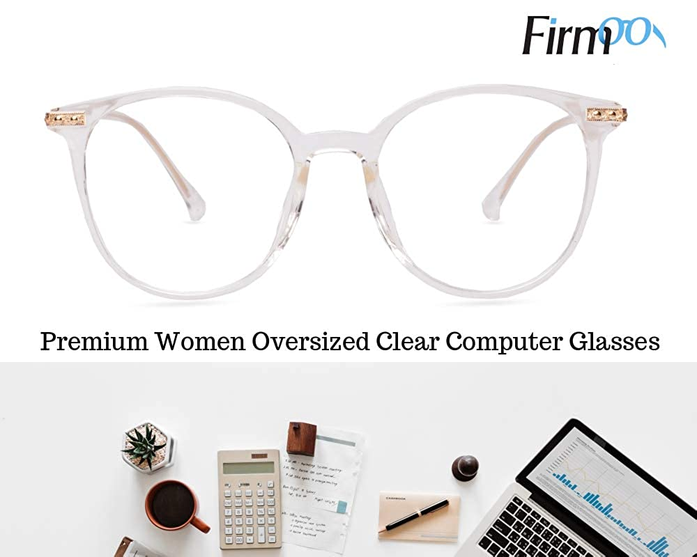 Firmoo -Customized Prescription Blue Light Blocking Glasses Unisex/Non-prescription Eyeglasses Frame with Clear Lenses Firmoo - Blue Light Blocking Anti-Reflective Clear Frame) S939-Clear(C3-F)