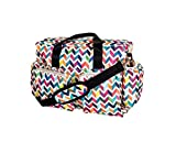 Girls Rainbow Chevron Diaper Bag, Zig Zag Pattern Baby Toddler Colorful Duffle