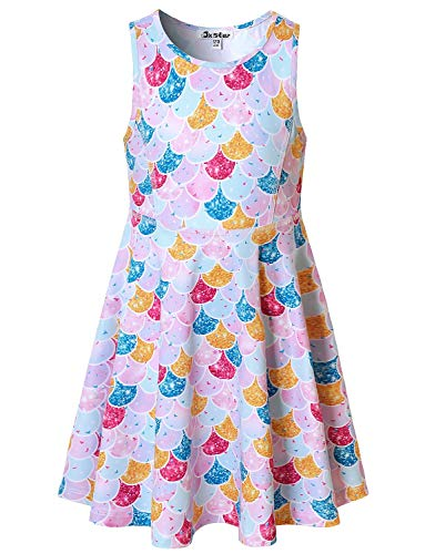 - Rainbow Mermaid Dresses for Girls Size 5t Sleeveless Hawaiian Swing Dress