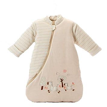 CWLLWC Saco de Dormir para bebé,Saco de Dormir más cálido bebé Color algodón Bolsa de Dormir Manga Desmontable Primavera/Invierno Engrosamiento de los niños ...