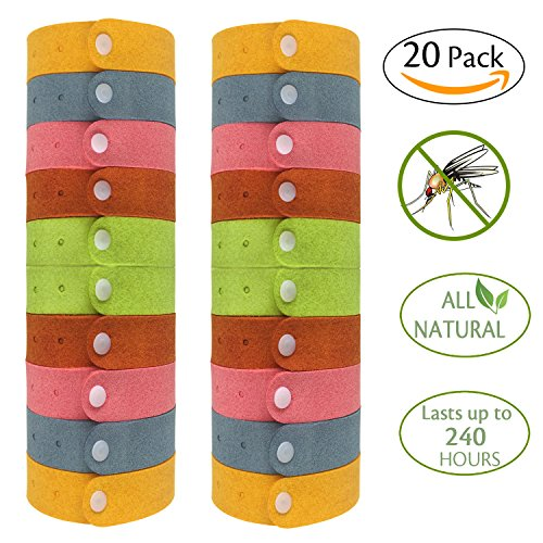 Pack Mosquito Repellent Bracelets Individually Wrapped