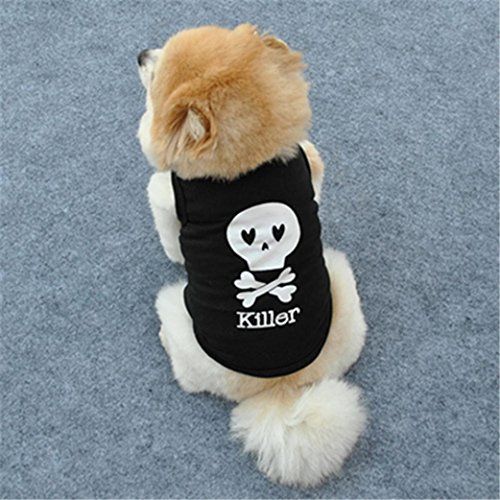 Picture of Voberry Small Dog Shirt, Pet Dog Cat Puppy Clothes Funny Killer Dog Shirt Costume (XS, Black)