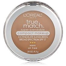 L'Oreal Paris True Match Super-Blendable Compact Makeup, Natural Beige, 0.30 Ounces