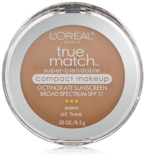 L'Oréal Paris True Match Super-Blendable Compact Makeup, W4 Natural Beige, 0.3 oz. ()