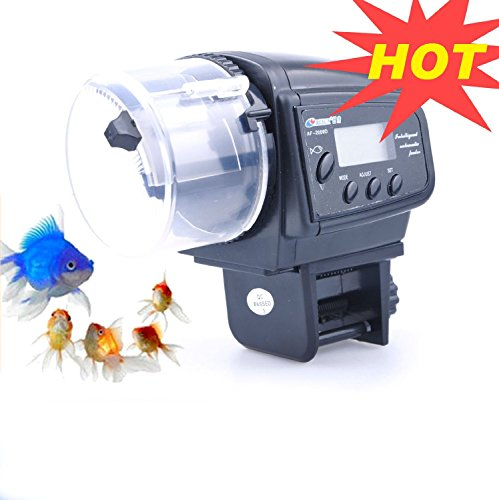 Lychee Aquarium Automatic Fish Food Tank Feeder Timer Auto Feeders For Holiday Vacation Fish Dispenser (AF-2009D) by lychee