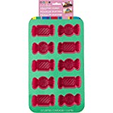 Wilton 2105-4160 Dylan's Bar Wrapped Candy Multi-Cavity 10 Shaped Mold, Pink