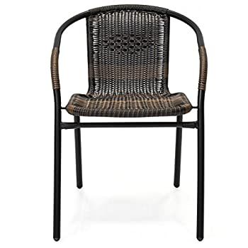 Best Choice Products Set of 4 Indoor-Outdoor Stackable Wicker Chairs