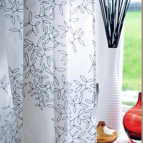Curtains Ideas curtain panels ikea : Ikea HEDDA BLAD Pair of Curtains, 2 panels, White / Black: Amazon ...