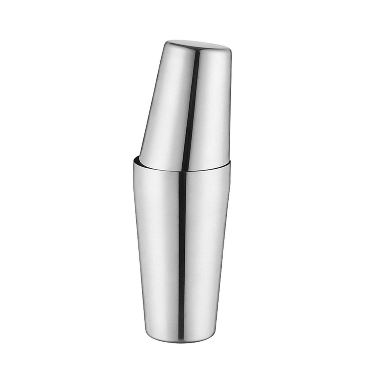 Folwme Professional S75-9 600ML Stainless Steel Cocktail Shaker Set Boston Style Shaker Wine Mixer Drinking Tool for Bartender Gifts-Silver-1 Size