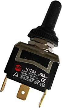2Pcs HY29j 3Pins Toggle Switch KEDU (ON)-OFF-(ON) Dust-Proof Switches with  Bilateral Automatic Reset Function Suitable for All Kinds of Devices or  Appliances AC 125/277V 20/15A CE CQC TUV - - Amazon.com | Hy29h Toggle Switch Wiring Diagram |  | Amazon.com